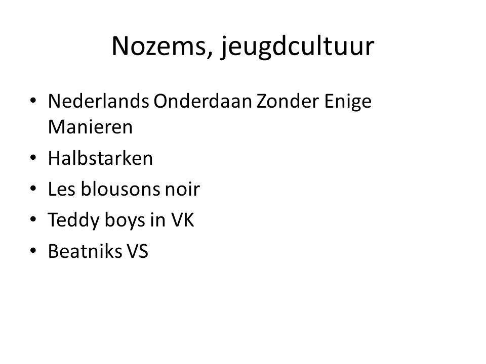 Nozems, jeugdcultuur Nederlands Onderdaan Zonder Enige Manieren