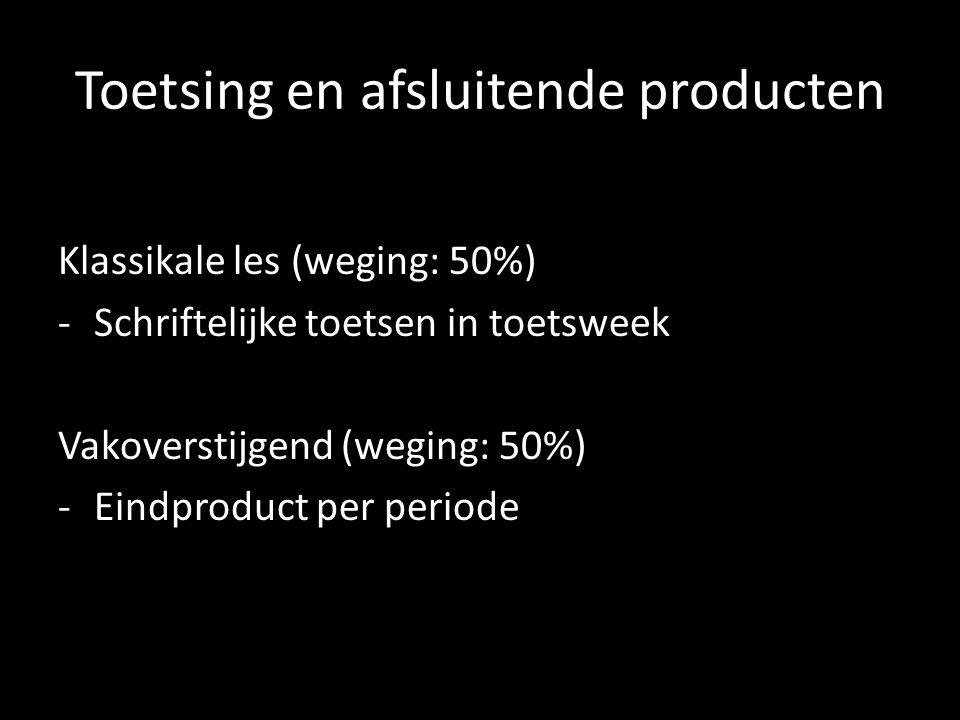 Toetsing en afsluitende producten