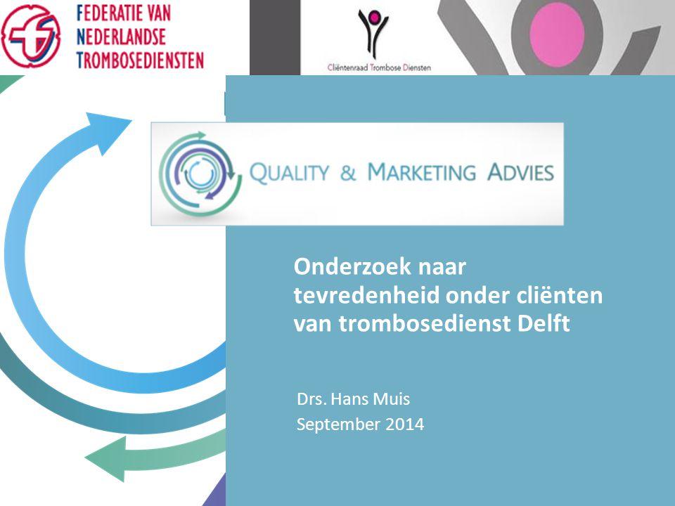 Onderzoek naar tevredenheid onder cliënten van trombosedienst Delft