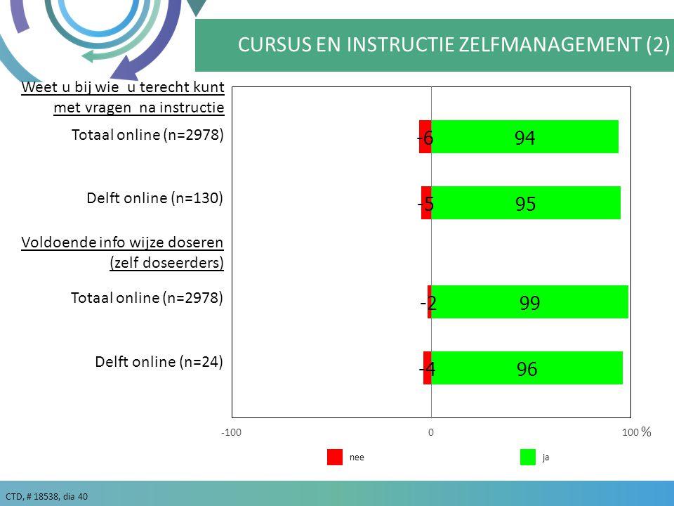 CURSUS EN INSTRUCTIE ZELFMANAGEMENT (2)