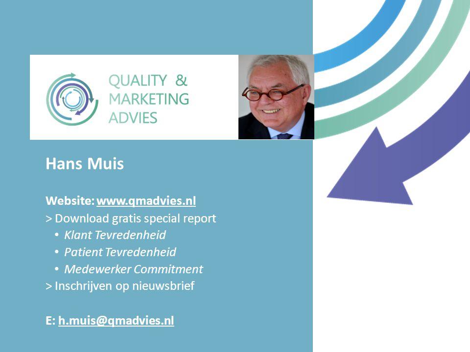 Hans Muis Website: www.qmadvies.nl > Download gratis special report