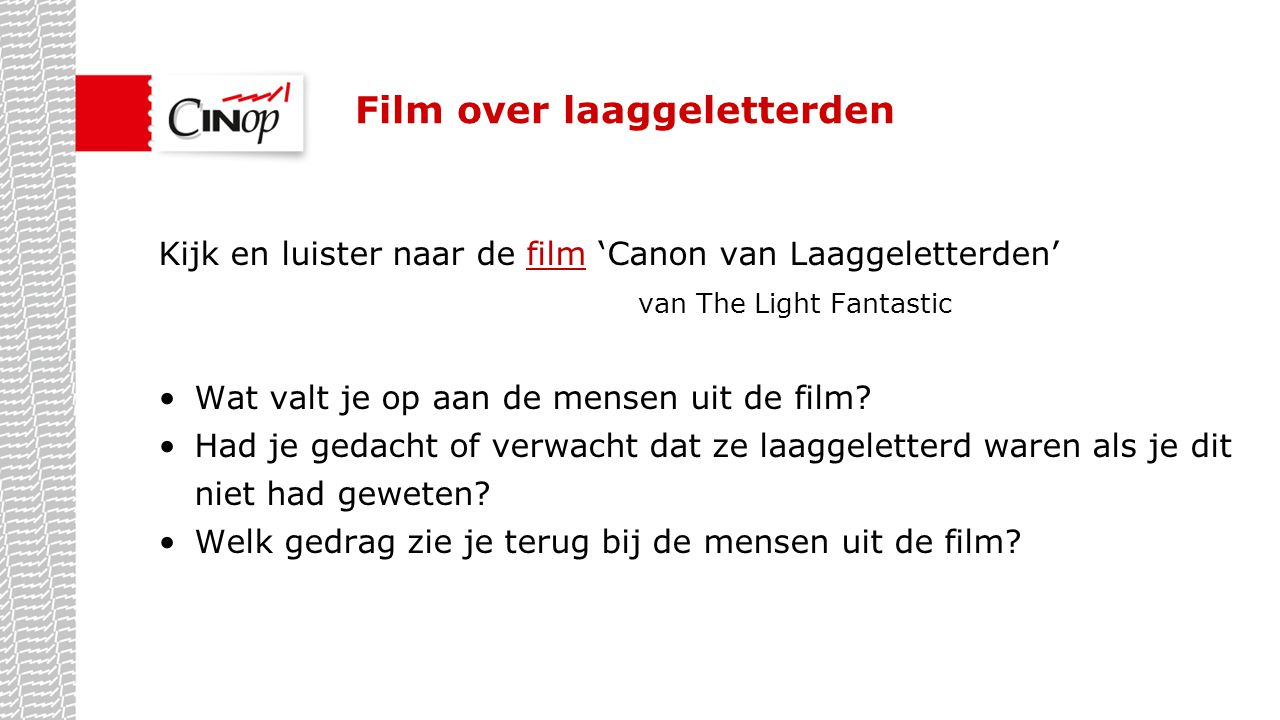 Film over laaggeletterden