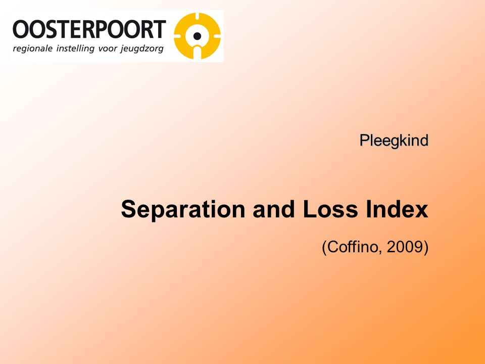 Separation and Loss Index