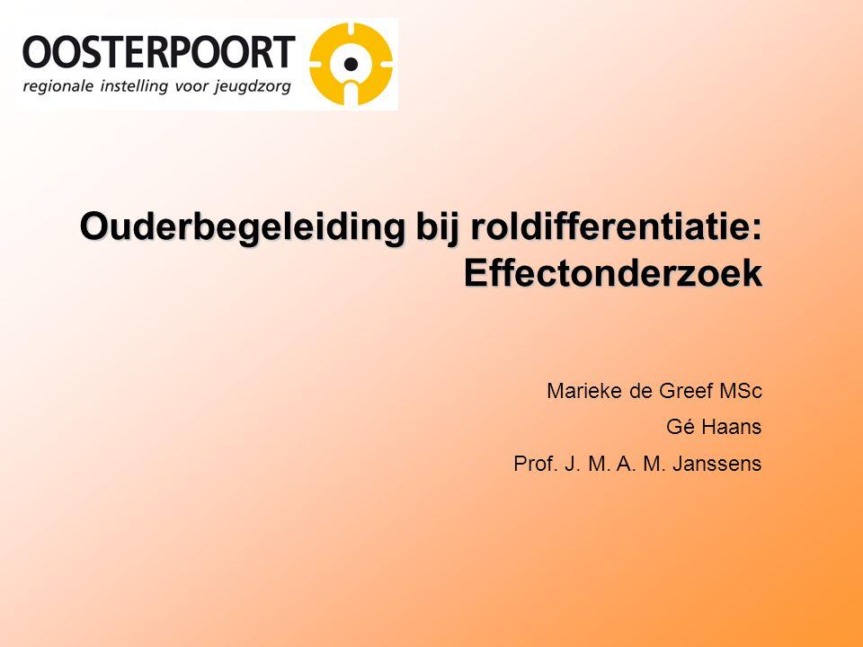 Ouderbegeleiding bij roldifferentiatie: Effectonderzoek