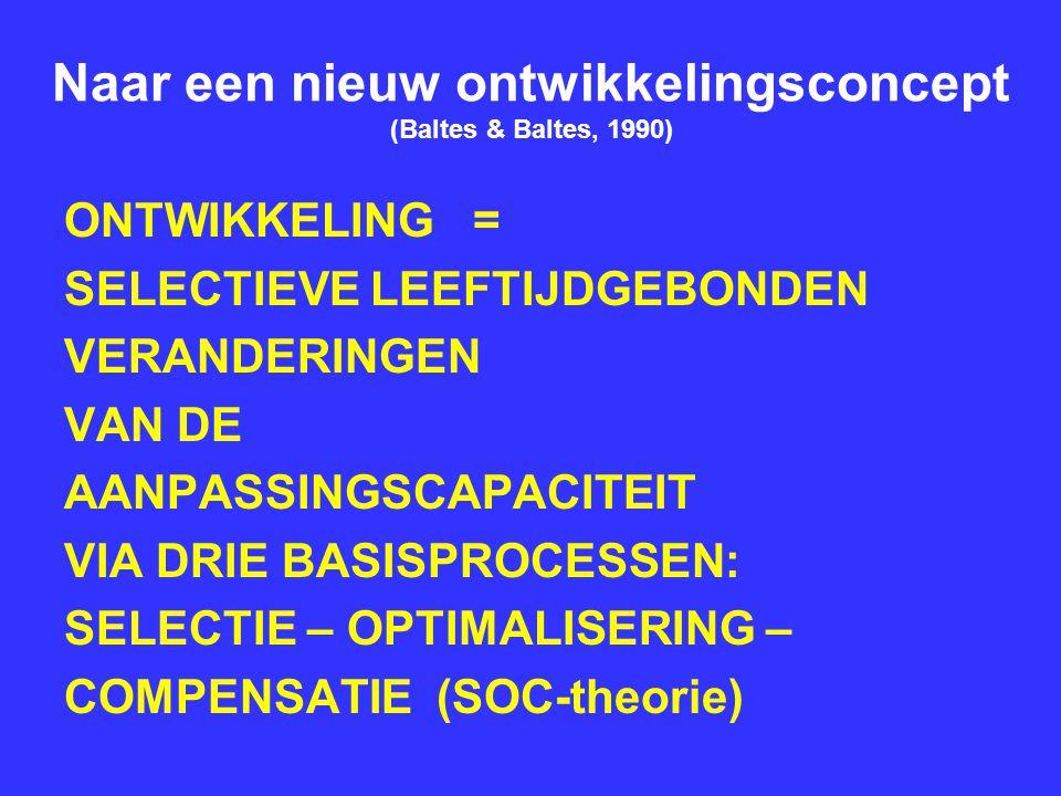 Naar een nieuw ontwikkelingsconcept (Baltes & Baltes, 1990)