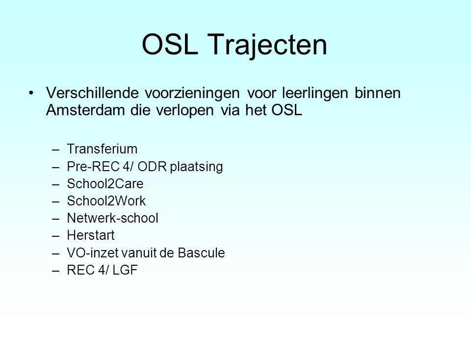 OSL Trajecten Verschillende voorzieningen voor leerlingen binnen Amsterdam die verlopen via het OSL.
