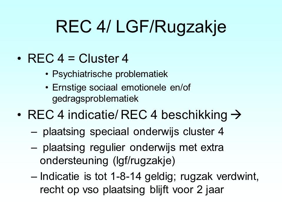 REC 4/ LGF/Rugzakje REC 4 = Cluster 4