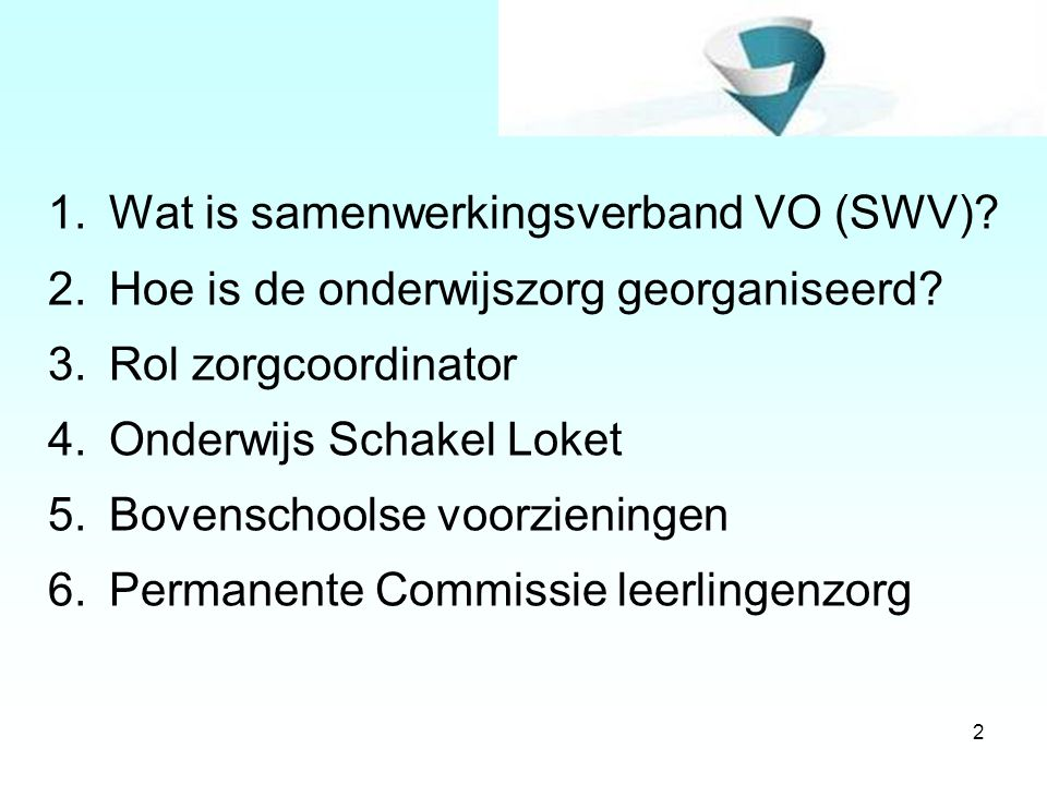 Wat is samenwerkingsverband VO (SWV)