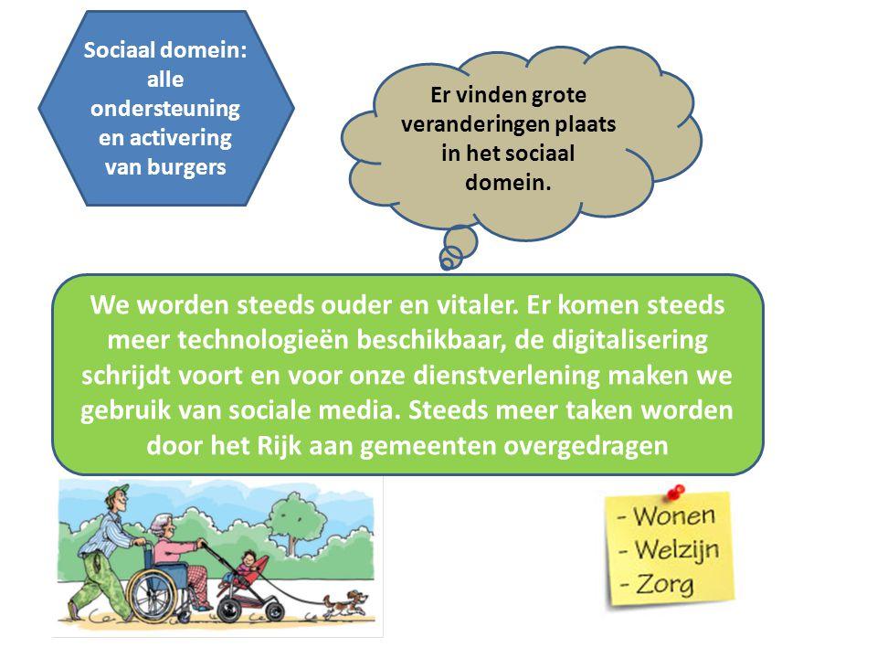 Sociaal domein: alle ondersteuning en activering van burgers