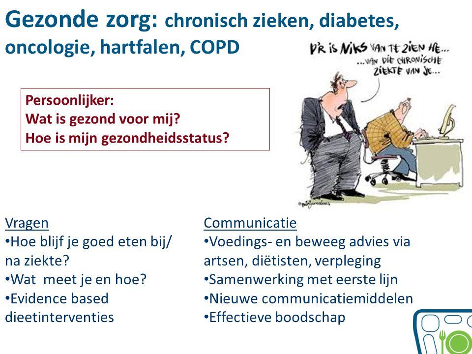 Gezonde zorg: chronisch zieken, diabetes, oncologie, hartfalen, COPD