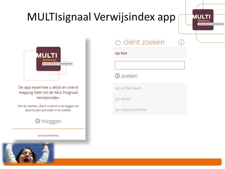 MULTIsignaal Verwijsindex app