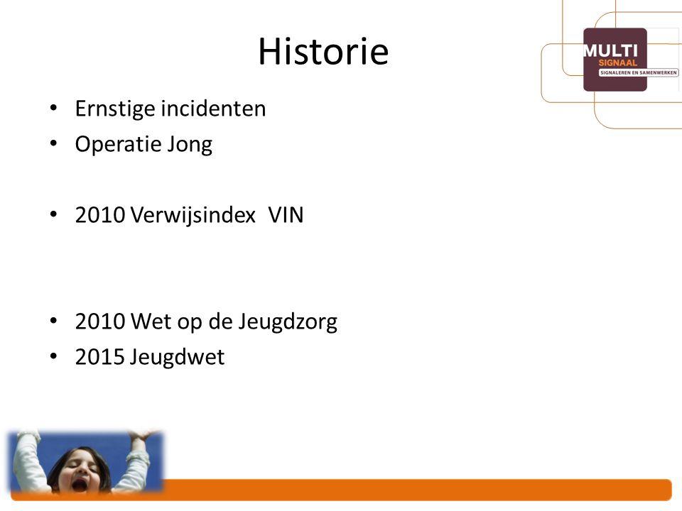 Historie Ernstige incidenten Operatie Jong 2010 Verwijsindex VIN
