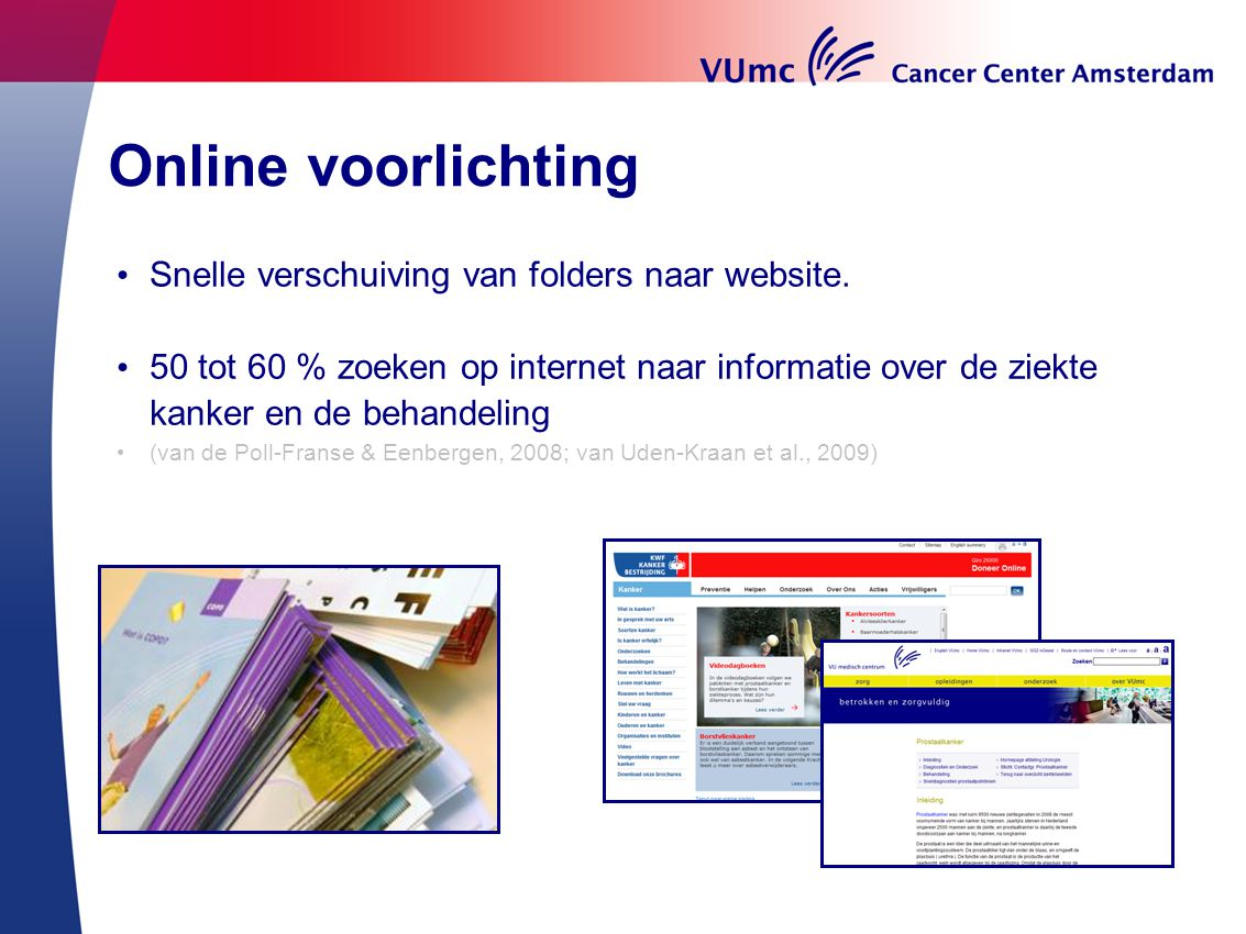 Online voorlichting Snelle verschuiving van folders naar website.