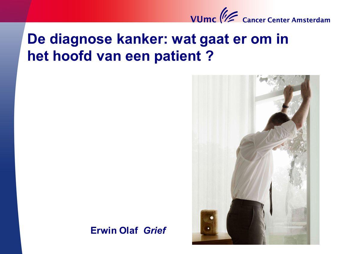 De diagnose kanker: wat gaat er om in het hoofd van een patient