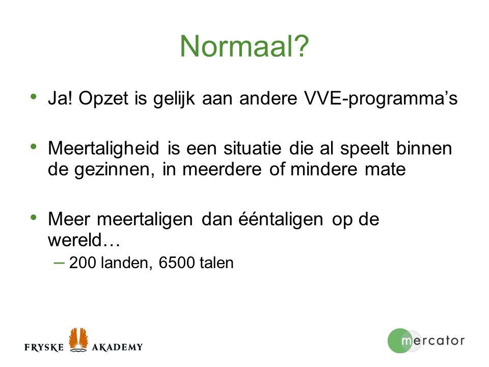 Normaal Ja! Opzet is gelijk aan andere VVE-programma's