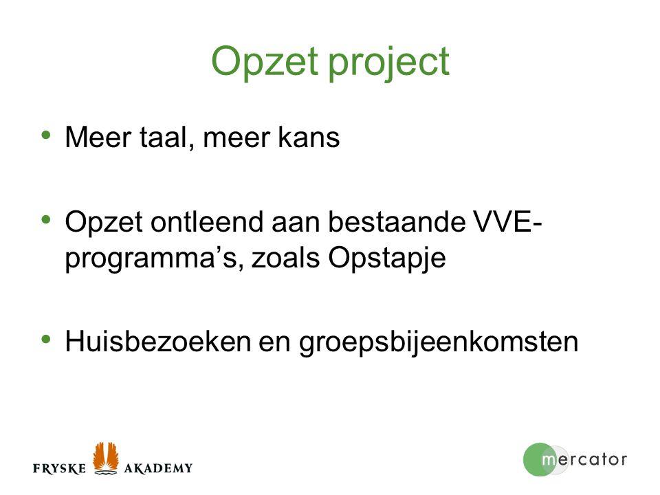 Opzet project Meer taal, meer kans