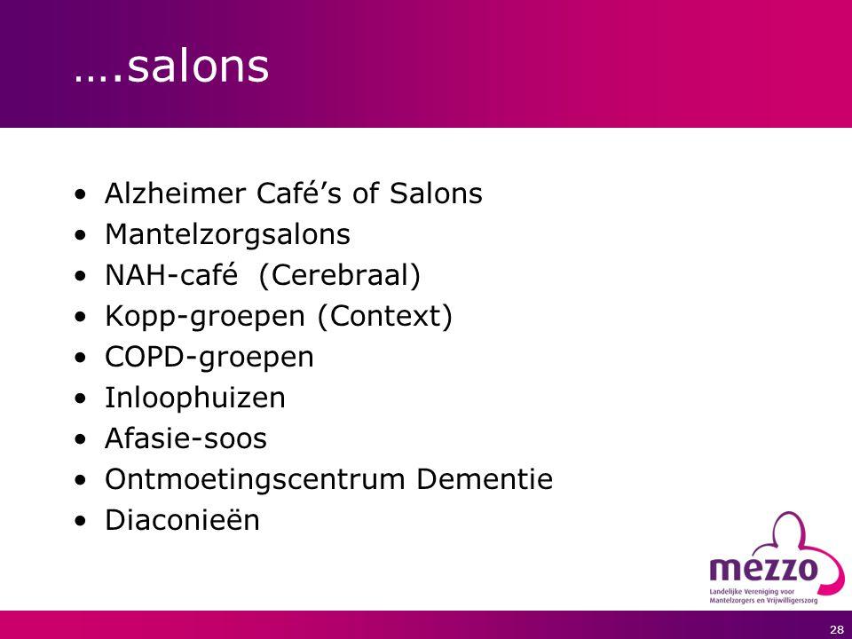 ….salons Alzheimer Café's of Salons Mantelzorgsalons