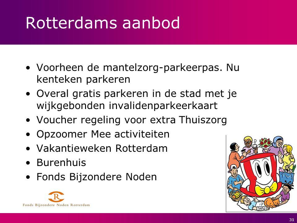 Rotterdams aanbod Voorheen de mantelzorg-parkeerpas. Nu kenteken parkeren.