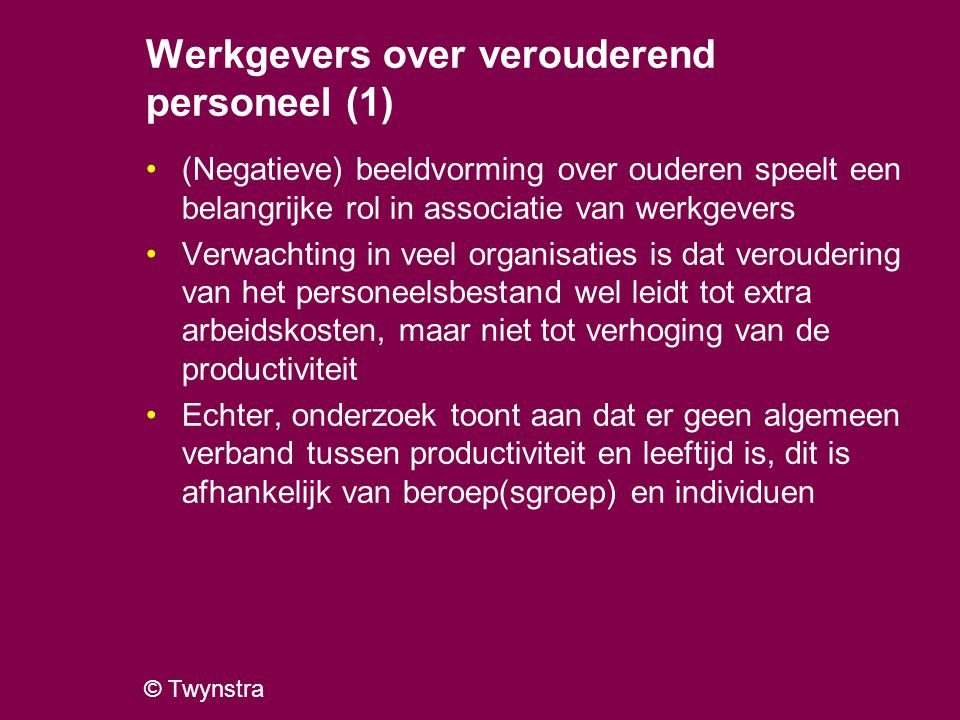 Werkgevers over verouderend personeel (1)
