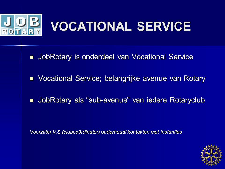 VOCATIONAL SERVICE JobRotary is onderdeel van Vocational Service