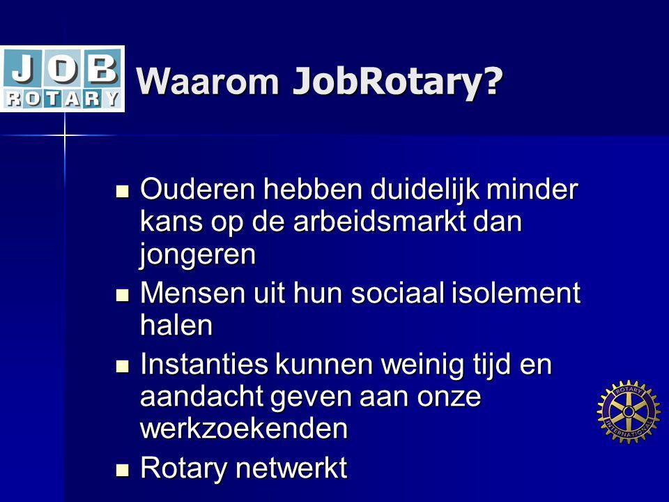 Waarom JobRotary Ouderen hebben duidelijk minder kans op de arbeidsmarkt dan jongeren. Mensen uit hun sociaal isolement halen.