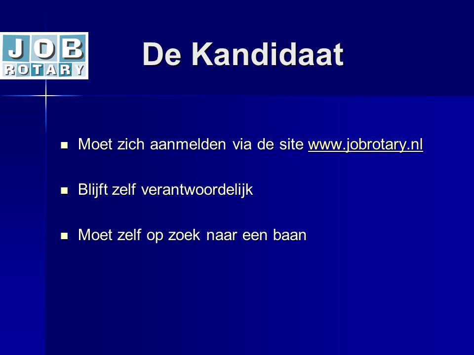 De Kandidaat Moet zich aanmelden via de site www.jobrotary.nl