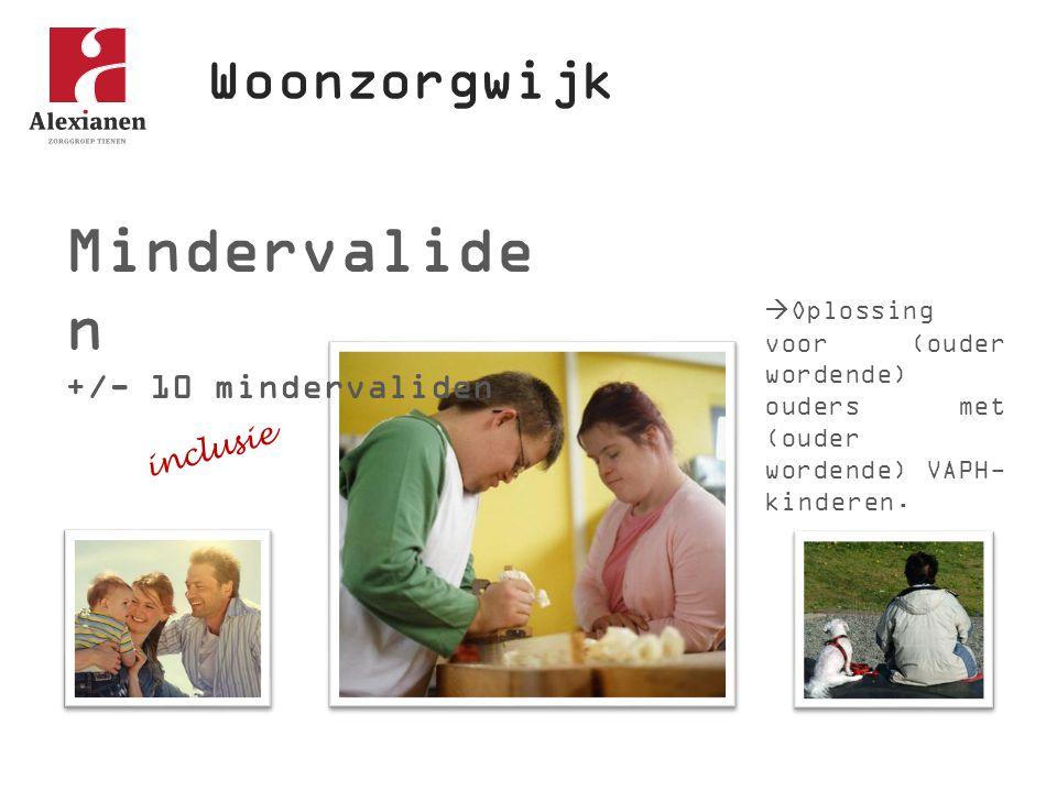 Mindervaliden Woonzorgwijk +/- 10 mindervaliden inclusie