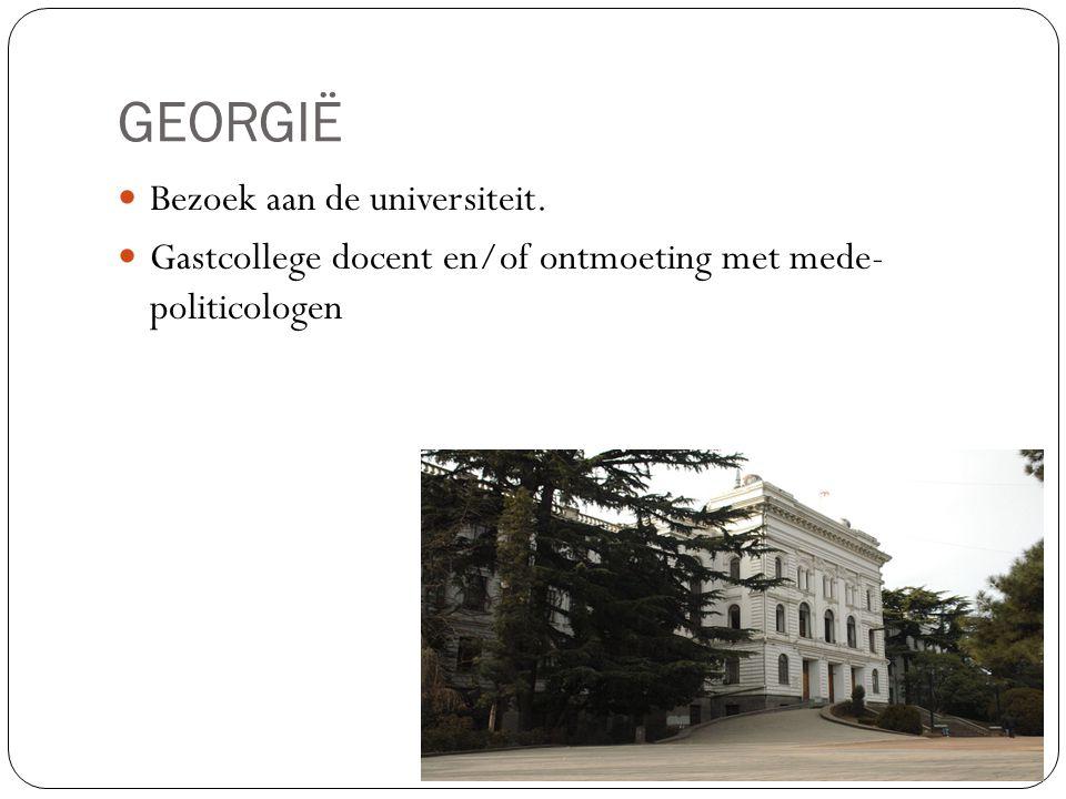 GEORGIË Bezoek aan de universiteit.