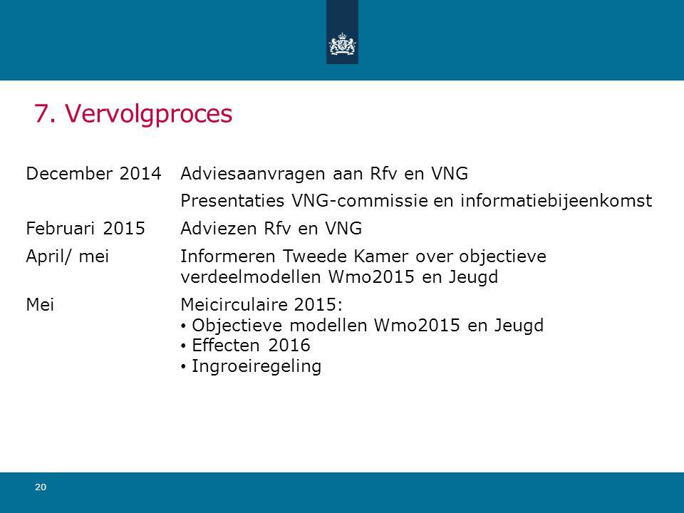 7. Vervolgproces December 2014 Adviesaanvragen aan Rfv en VNG
