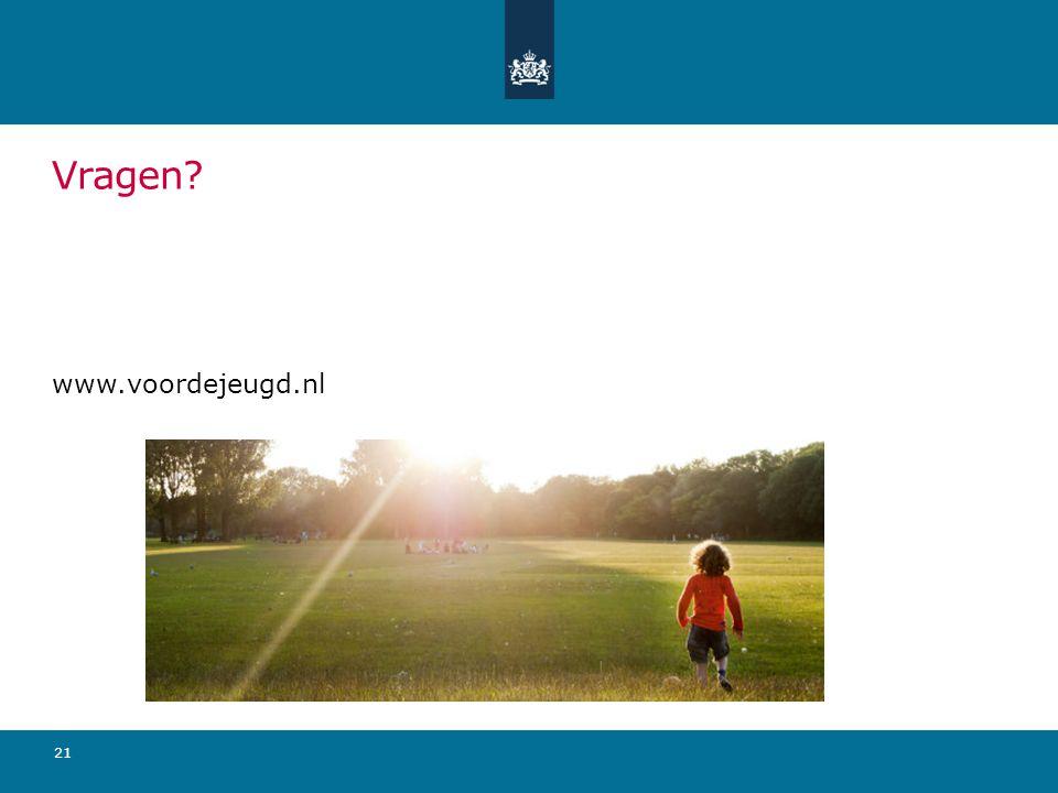 Vragen www.voordejeugd.nl