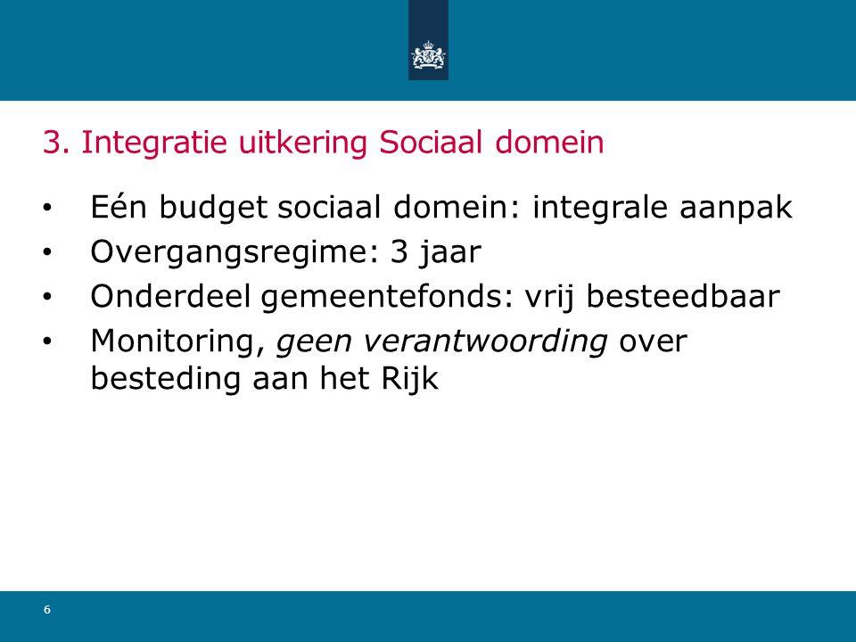 3. Integratie uitkering Sociaal domein