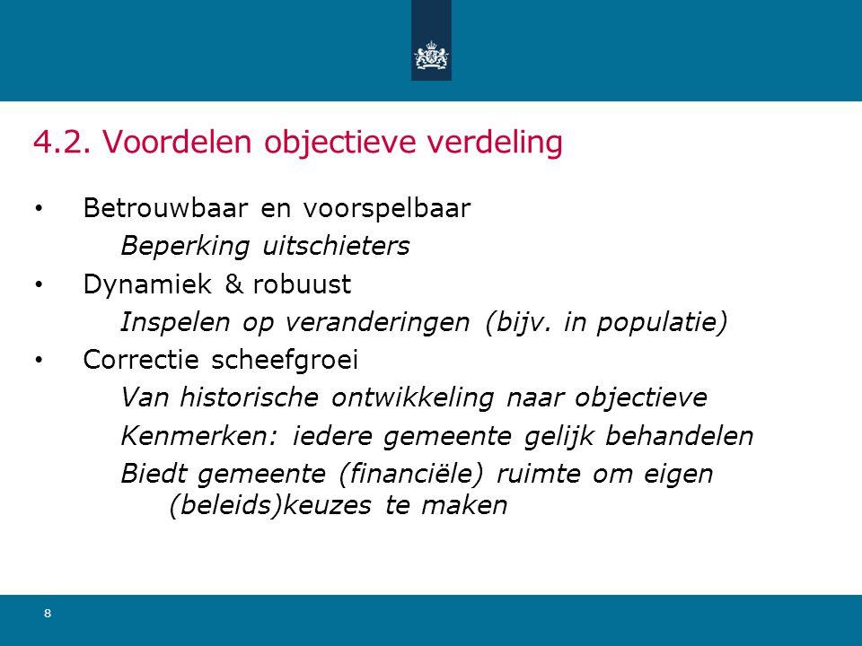 4.2. Voordelen objectieve verdeling