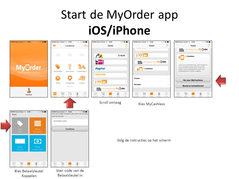 Start de MyOrder app iOS/iPhone