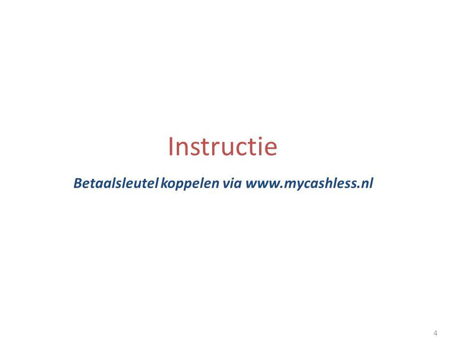 Betaalsleutel koppelen via www.mycashless.nl