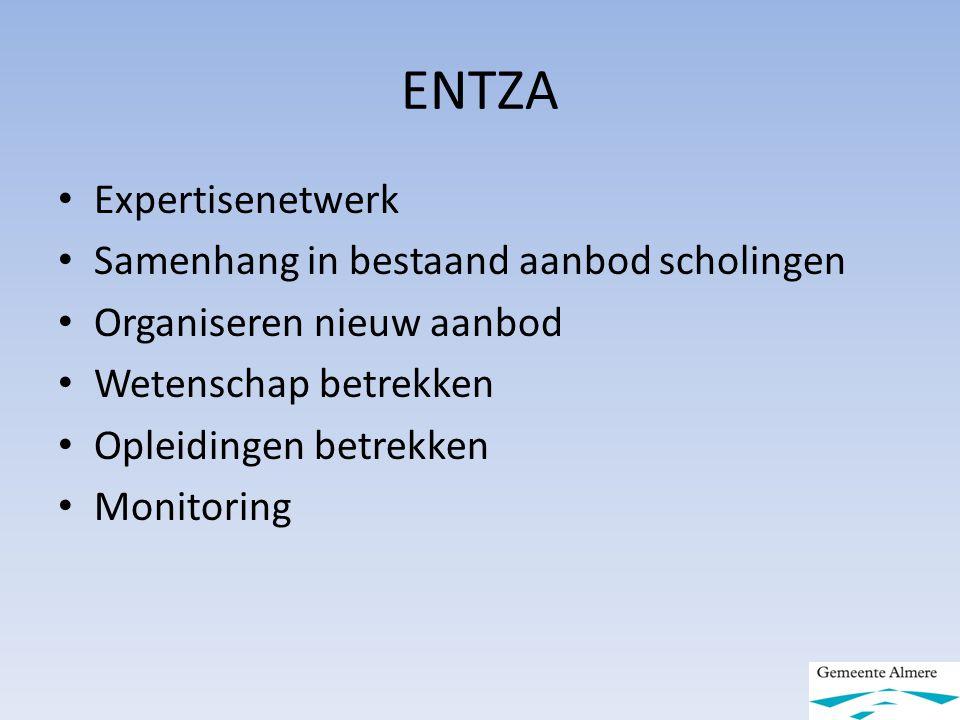 ENTZA Expertisenetwerk Samenhang in bestaand aanbod scholingen
