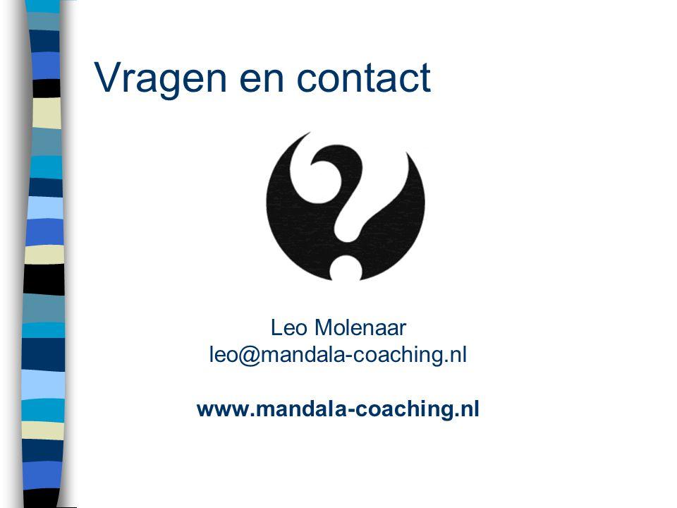 Leo Molenaar leo@mandala-coaching.nl www.mandala-coaching.nl
