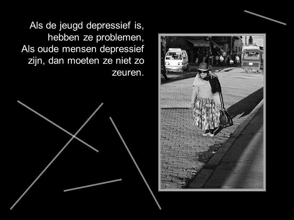 Als de jeugd depressief is, hebben ze problemen,