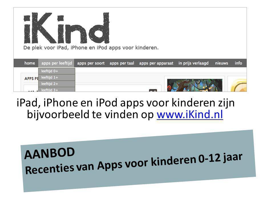 AANBOD Recenties van Apps voor kinderen 0-12 jaar