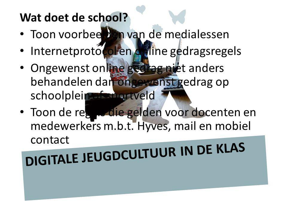 DIGITALE JEUGDCULTUUR IN DE KLAS