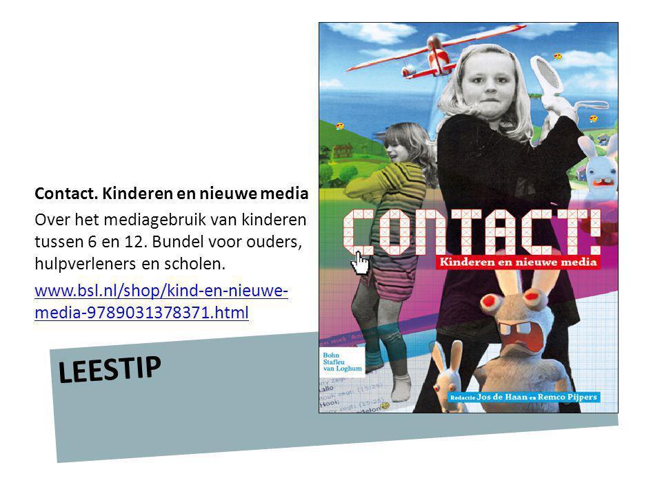 LEESTIP Contact. Kinderen en nieuwe media