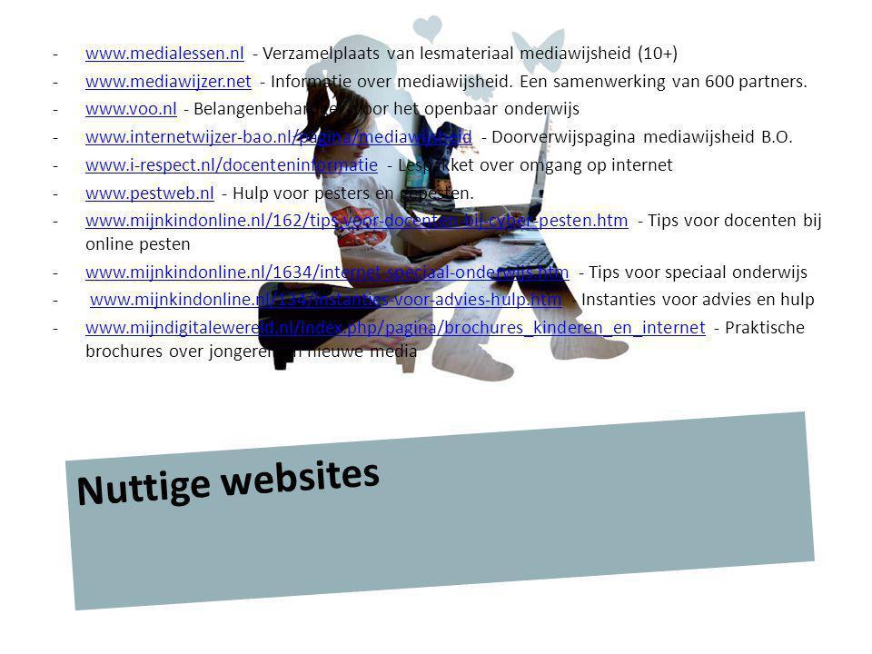 www.medialessen.nl - Verzamelplaats van lesmateriaal mediawijsheid (10+)