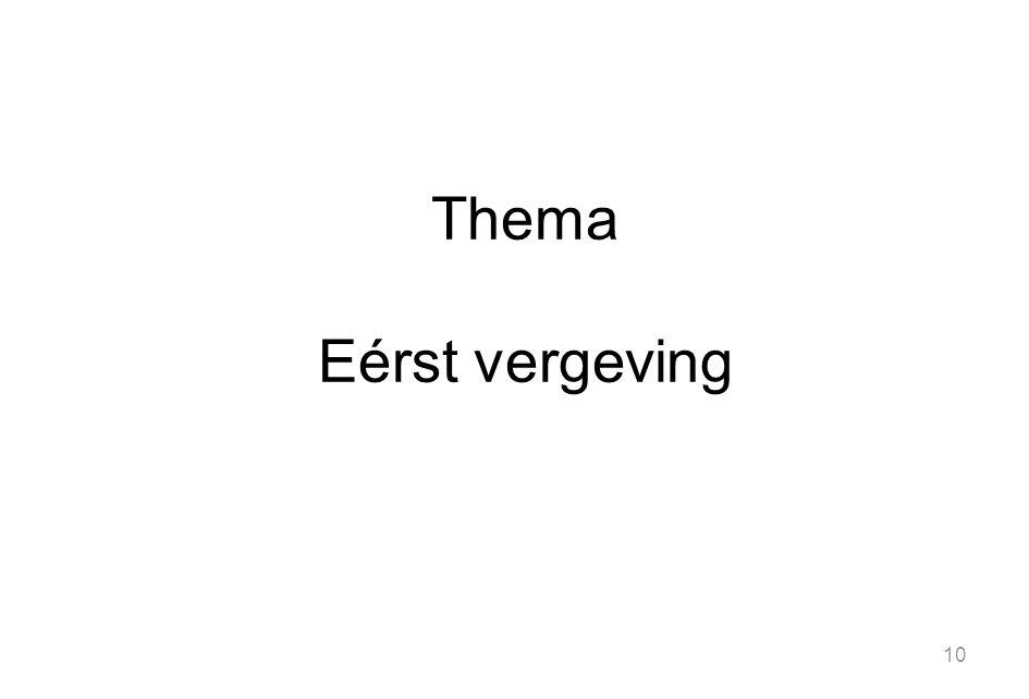 Thema Eérst vergeving