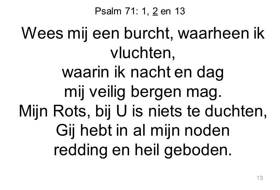 Psalm 71: 1, 2 en 13