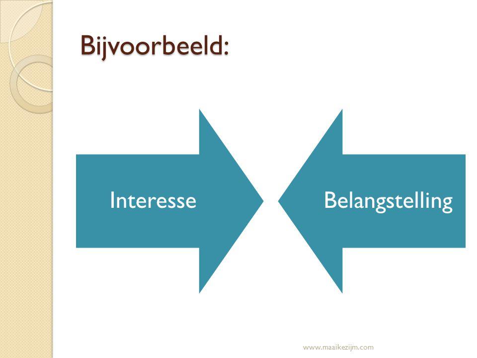 Bijvoorbeeld: Interesse Belangstelling www.maaikezijm.com
