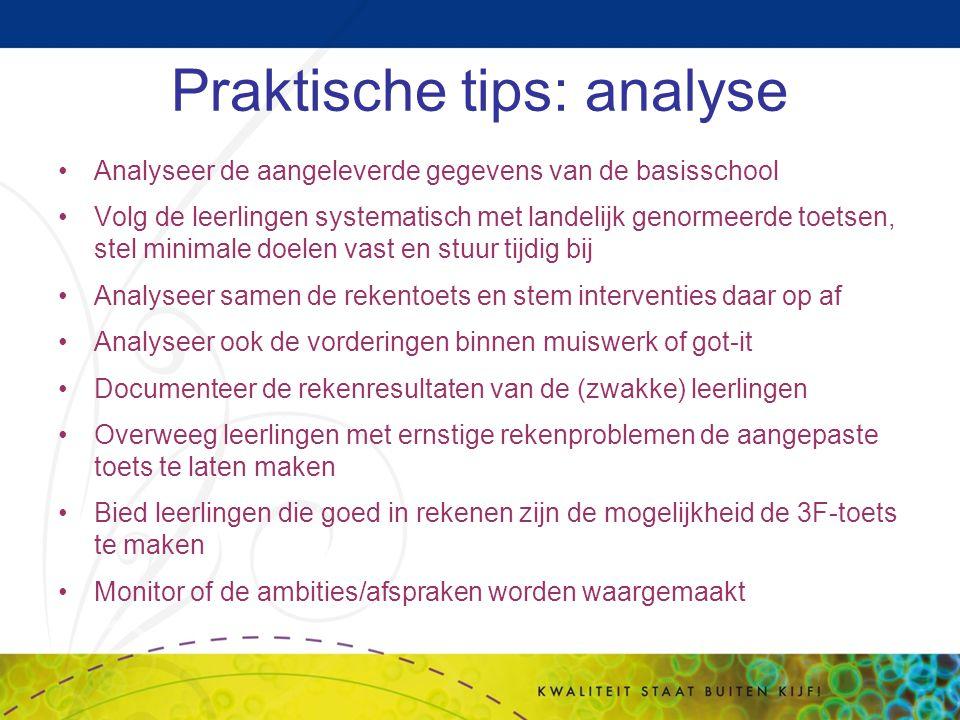 Praktische tips: analyse