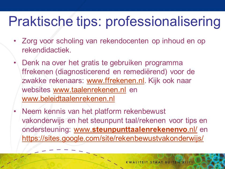 Praktische tips: professionalisering