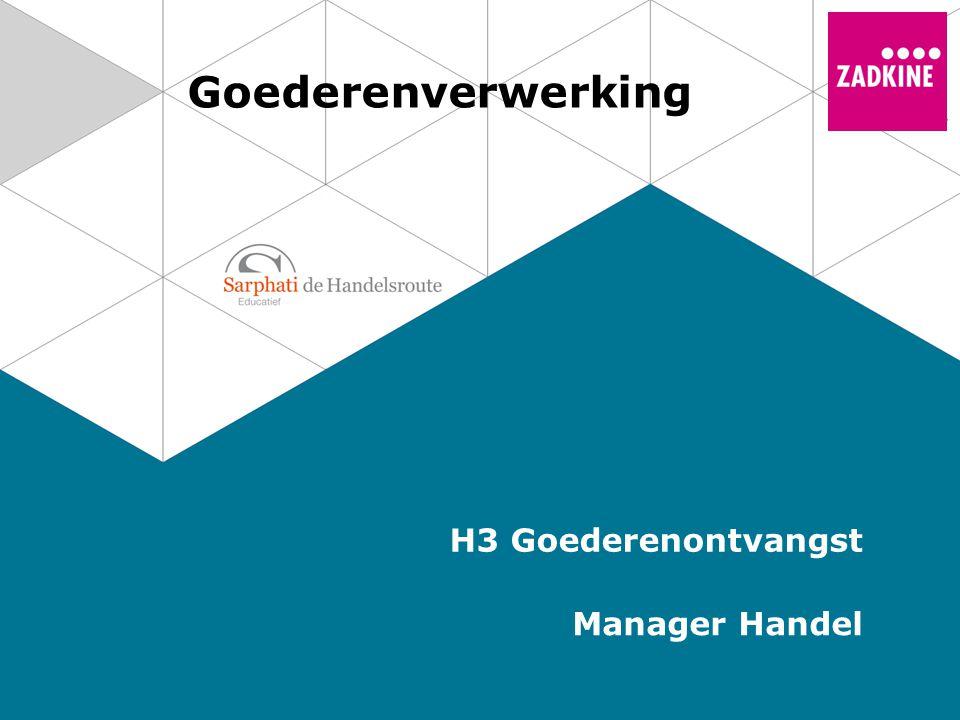 Goederenverwerking H3 Goederenontvangst Manager Handel