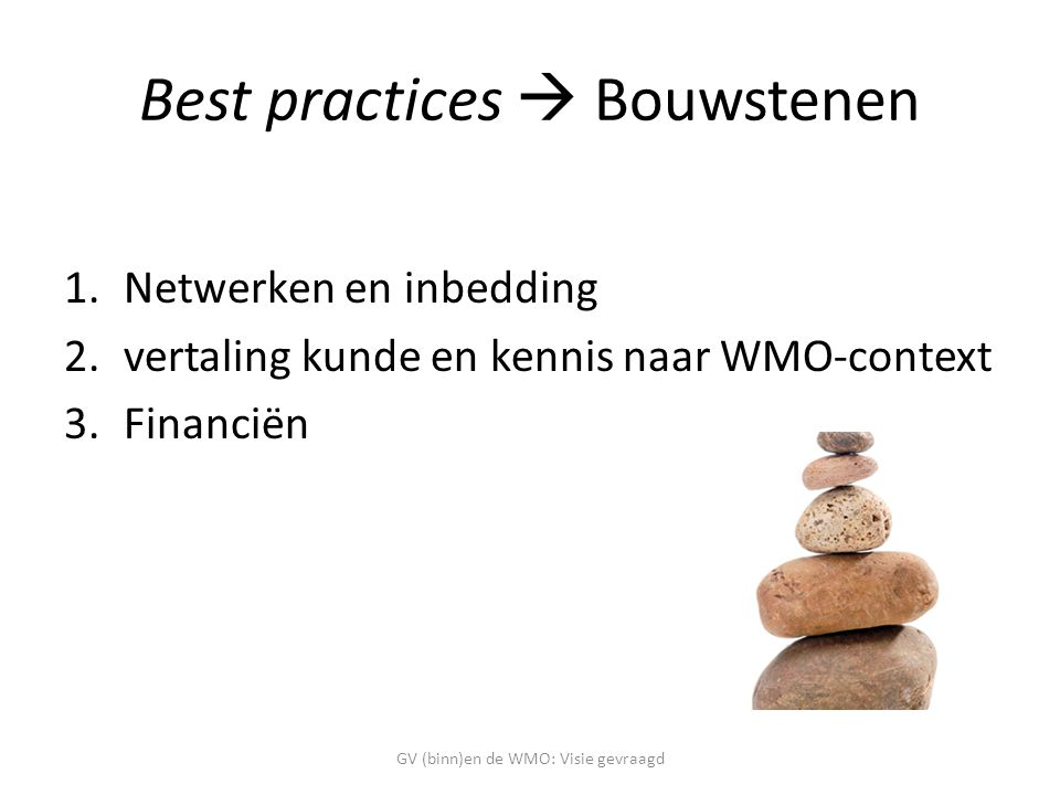 Best practices  Bouwstenen