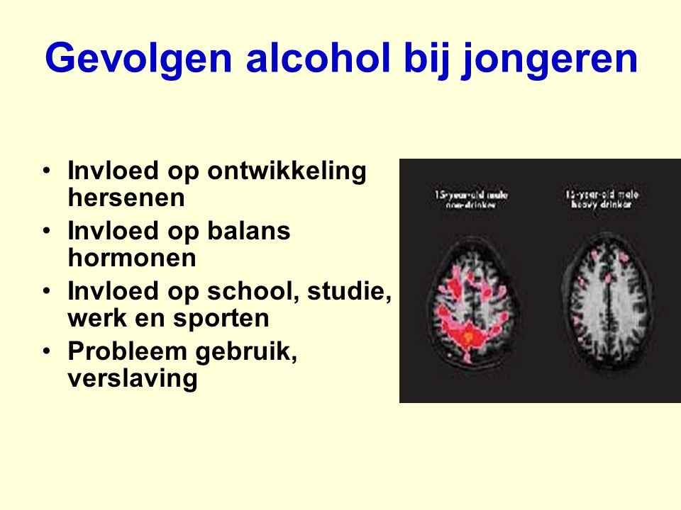 Gevolgen alcohol bij jongeren