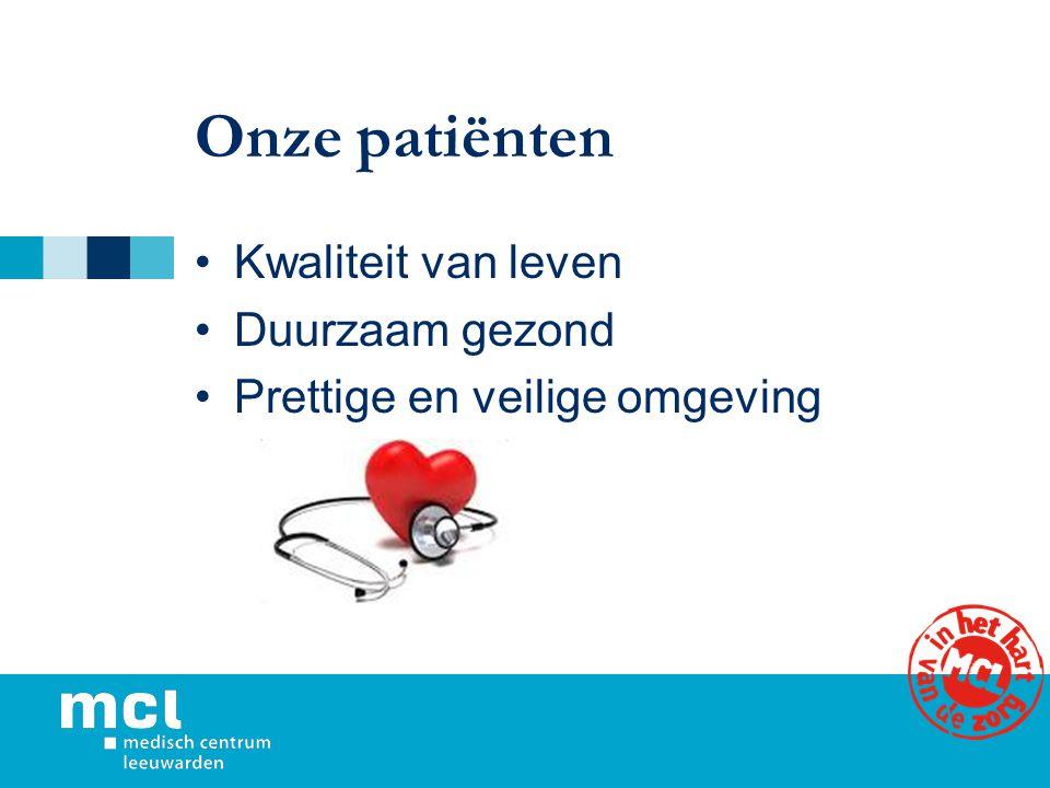 Onze patiënten Kwaliteit van leven Duurzaam gezond